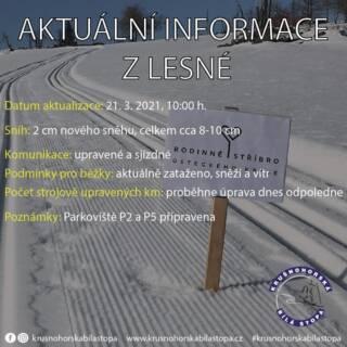 Zima ještě nekončí! Dneska upravíme po ustání sněžení a větru trasy pro běžkování. Od zítřka lze za sportem do celého okresu. Zároveň bude možnost zapůjčit si i běžky na Lesné. ❄️ #krusnohorskabilastopa #krusnohori #krusnehory #lesna #halesna #erzgebirge #usteckykraj #zima #bezky #snih #rok2021